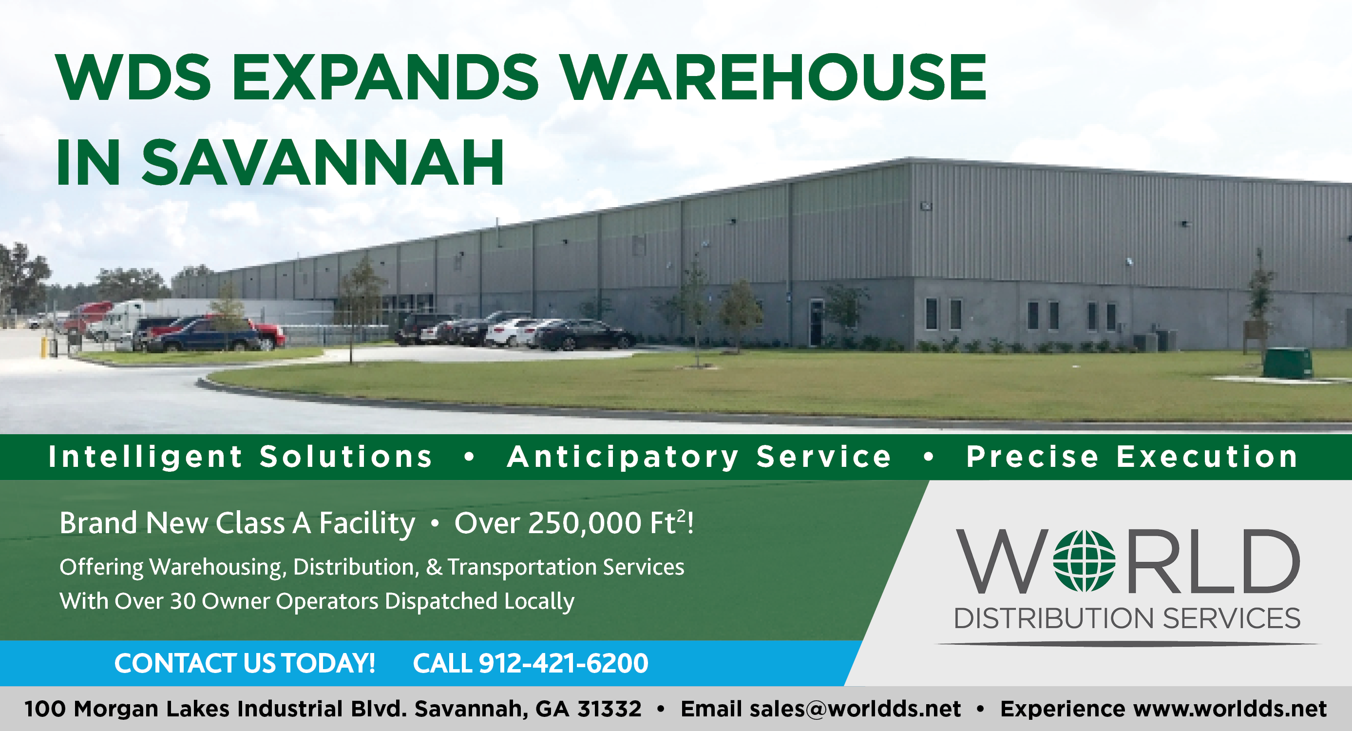 WDS, a UWL sister company, expands its Savannah warehouse