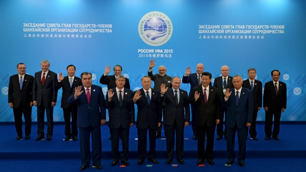 The SCO heads of state, the heads of observer states and governments, and international organisation delegation heads during the Shanghai Cooperation Organization (SCO) summit in Ufa, Russia, July 10, 2015. (RIA Novosti via Reuters)